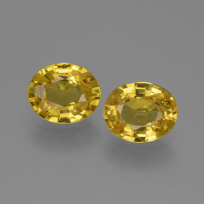 Yellow Golden Sapphire Gem - 0.7ct Oval Facet (ID: 443613)