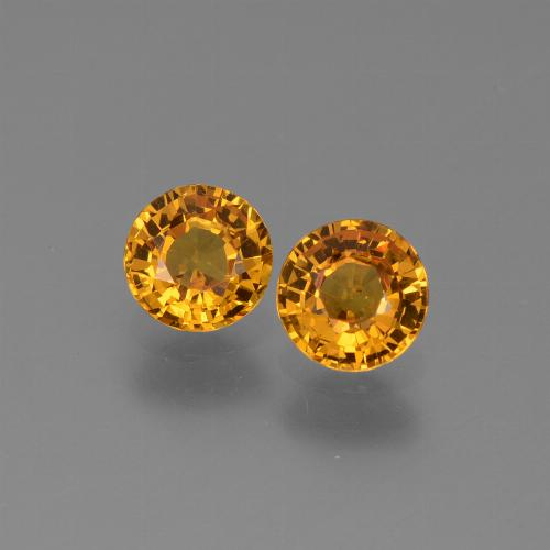 Yellow Golden Sapphire Gem - 0.6ct Round Facet (ID: 443656)