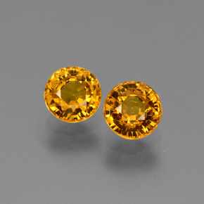 Yellow Golden Sapphire Gem - 0.8ct Round Facet (ID: 443658)