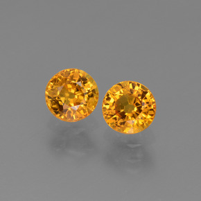 Yellow Golden Sapphire Gem - 0.7ct Round Facet (ID: 443660)