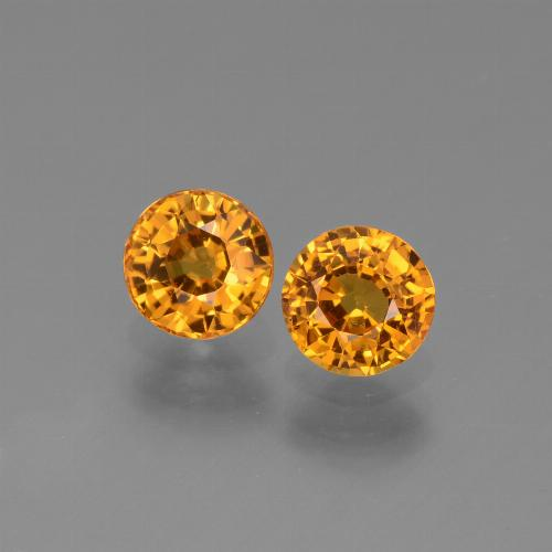 Yellow Golden Sapphire Gem - 0.6ct Round Facet (ID: 443662)