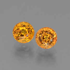 Yellow Golden Sapphire Gem - 1.1ct Round Facet (ID: 443663)