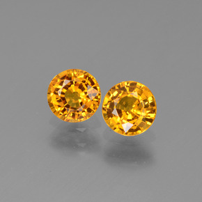 Yellow Golden Sapphire Gem - 0.6ct Round Facet (ID: 443664)