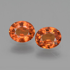 Medium Orange Sapphire Gem - 0.7ct Oval Facet (ID: 443709)
