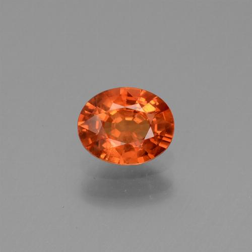 Red Orange Sapphire Gem - 0.8ct Oval Facet (ID: 443737)