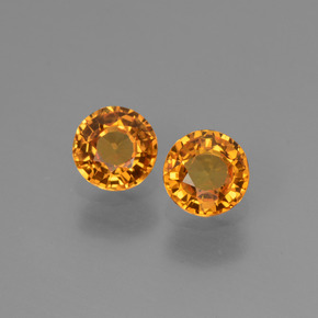 Yellow Golden Sapphire Gem - 0.6ct Round Facet (ID: 443779)