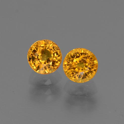 Yellow Golden Sapphire Gem - 0.9ct Round Facet (ID: 443782)