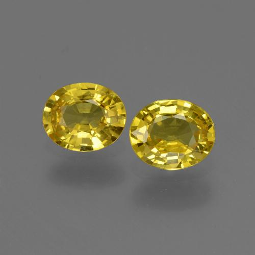 Yellow Golden Sapphire Gem - 0.7ct Oval Facet (ID: 443799)