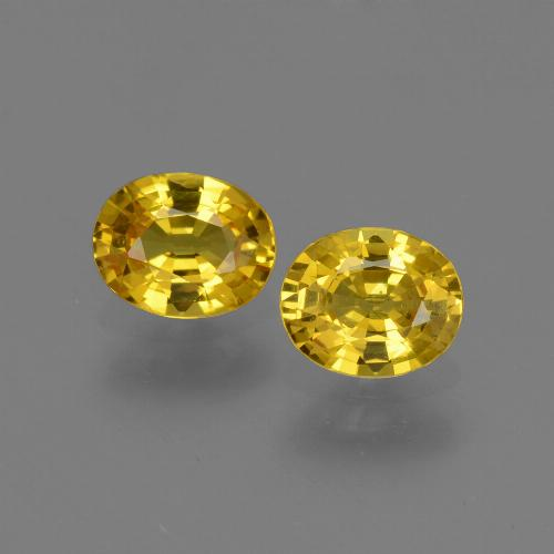 Honey Yellow Sapphire Gem - 0.7ct Oval Facet (ID: 443802)