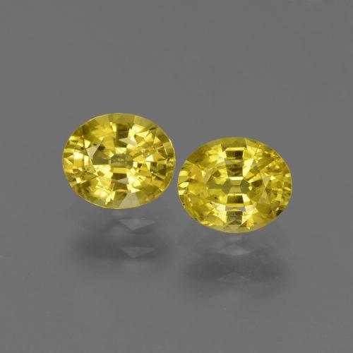 Yellowish Gold Zafiro Gema - 0.8ct Forma ovalada (ID: 443808)