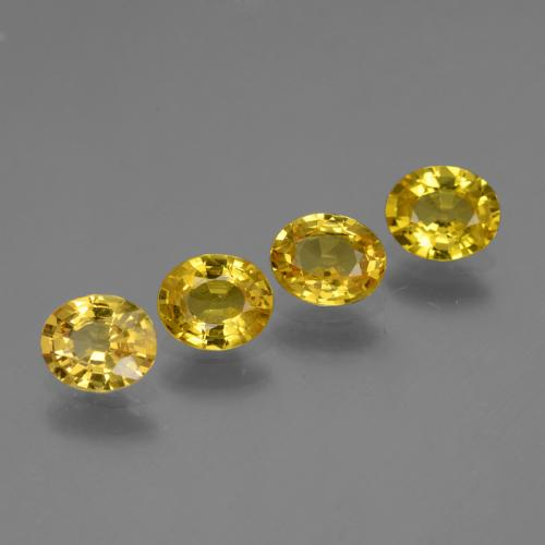 Yellow Golden Sapphire Gem - 0.7ct Oval Facet (ID: 443830)