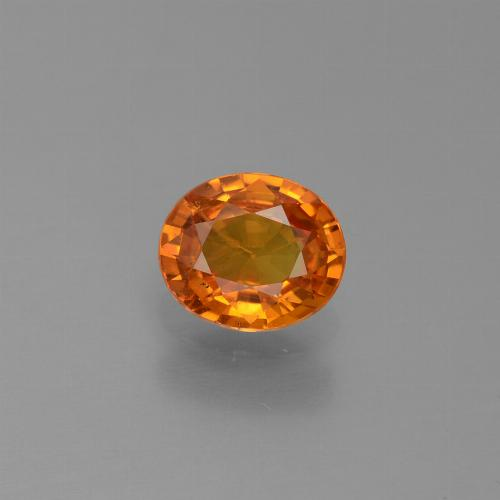 0.7ct Oval Facet Yellow Orange Sapphire Gem (ID: 443882)