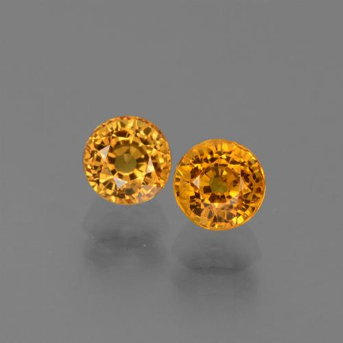 Yellow Golden Sapphire Gem - 0.8ct Round Facet (ID: 443899)