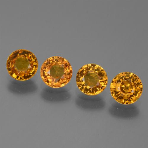 Yellow Sapphire Gem - 0.6ct Round Facet (ID: 443903)