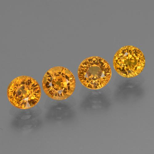 Yellow Golden Sapphire Gem - 0.7ct Round Facet (ID: 443904)