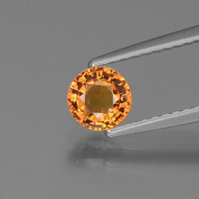 Yellow Golden Sapphire Gem - 0.7ct Round Facet (ID: 443926)