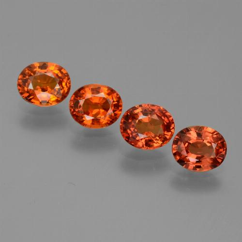 Orange Sapphire Gem - 0.9ct Oval Facet (ID: 443952)