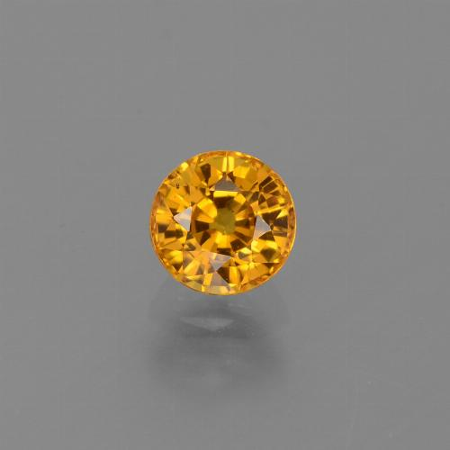 Medium Orange Zaffiro Gem - 0.8ct Sfaccettatura rotonda (ID: 443974)