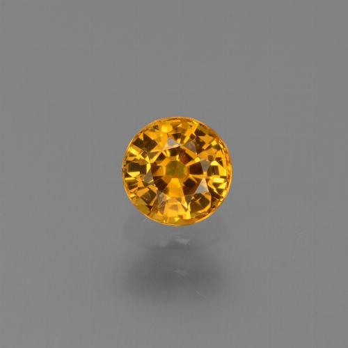 Yellow Golden Sapphire Gem - 0.7ct Round Facet (ID: 443980)