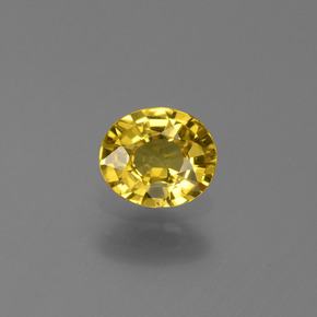 Light Honey Yellow Zafiro Gema - 0.6ct Forma ovalada (ID: 443995)