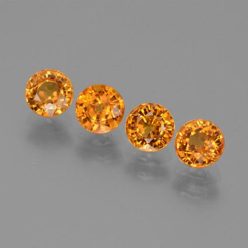 Yellow Golden Sapphire Gem - 0.7ct Round Facet (ID: 444043)