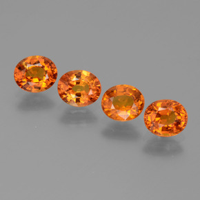 Medium Orange Zafiro Gema - 0.8ct Forma ovalada (ID: 444044)