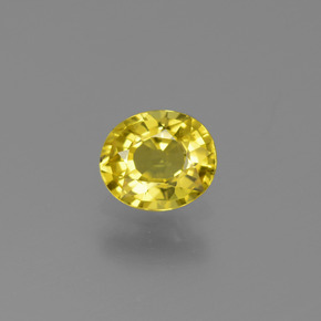 Yellow Golden Sapphire Gem - 0.7ct Oval Facet (ID: 444050)