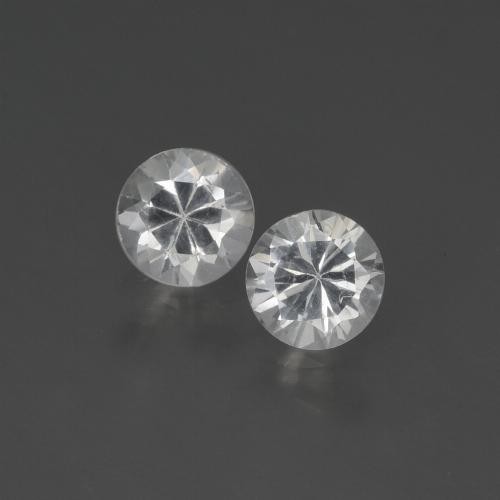 White Sapphire Gem - 0.4ct Diamond-Cut (ID: 444140)