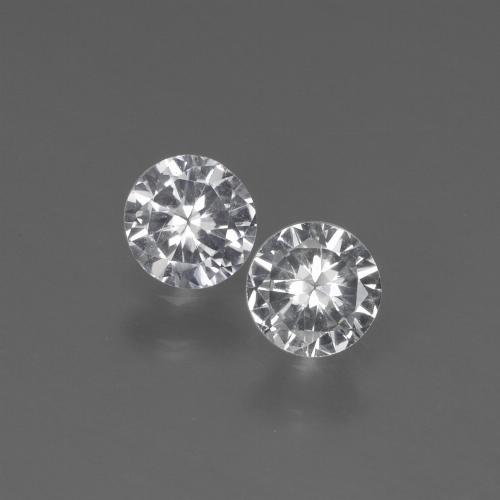 White Sapphire Gem - 0.3ct Diamond-Cut (ID: 444143)