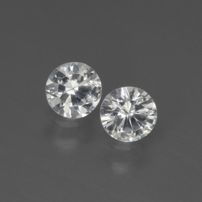 White Sapphire Gem - 0.4ct Diamond-Cut (ID: 444147)