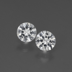 White Sapphire Gem - 0.4ct Diamond-Cut (ID: 444148)