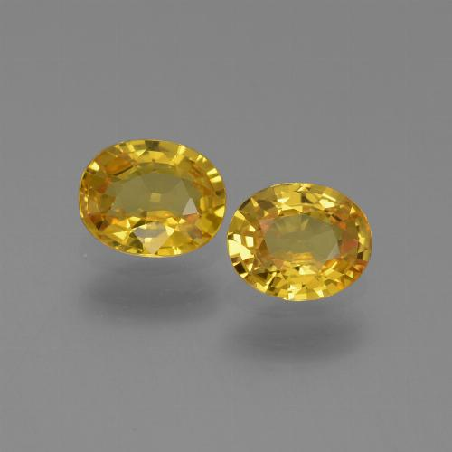 Yellow Golden Sapphire Gem - 0.7ct Oval Facet (ID: 444178)