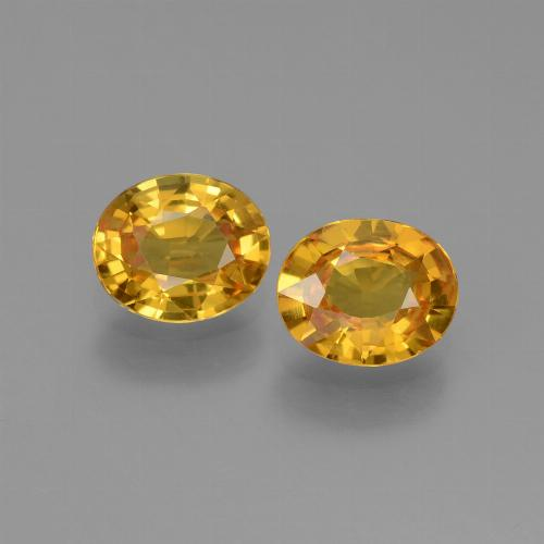 Deep Golden Orange Saphir Edelstein - 0.7ct Oval facettiert (ID: 444182)