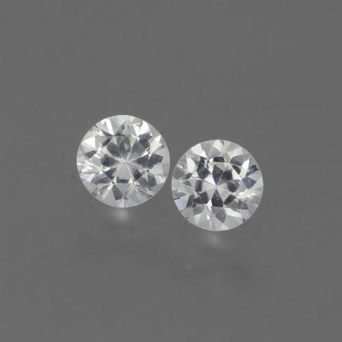 White Sapphire Gem - 0.4ct Diamond-Cut (ID: 444240)