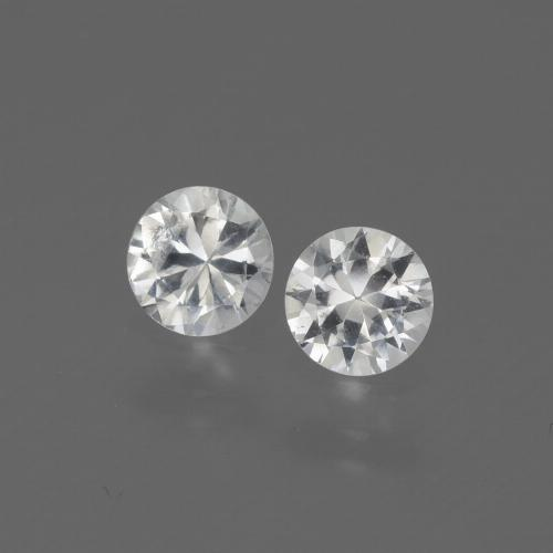 White Sapphire Gem - 0.3ct Diamond-Cut (ID: 444243)