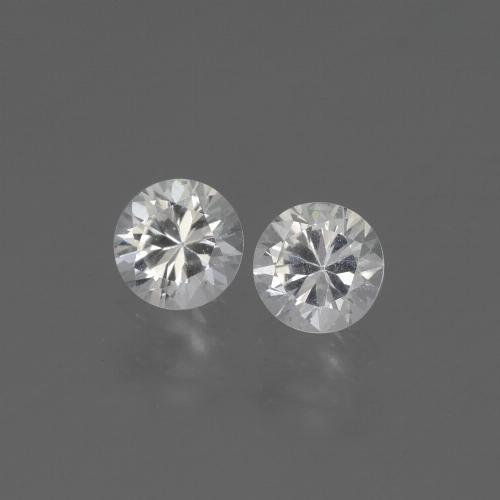 White Sapphire Gem - 0.4ct Diamond-Cut (ID: 444244)
