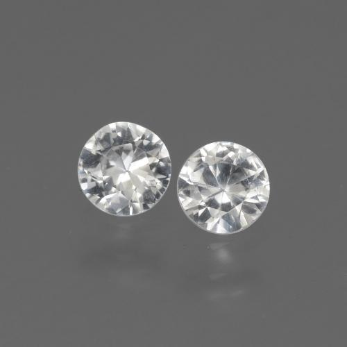 White Sapphire Gem - 0.4ct Diamond-Cut (ID: 444245)