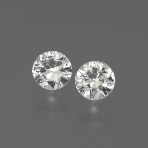 White Sapphire Gem - 0.4ct Diamond-Cut (ID: 444251)