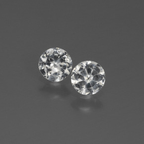 White Sapphire Gem - 0.3ct Diamond-Cut (ID: 444318)