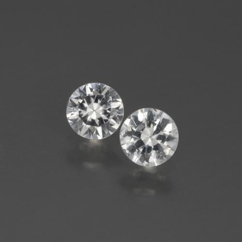 White Sapphire Gem - 0.4ct Diamond-Cut (ID: 444323)