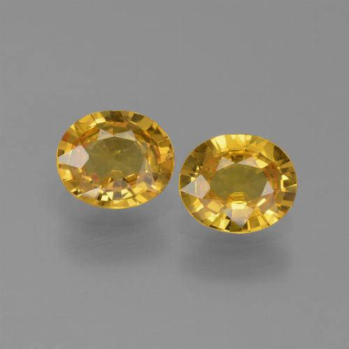 Golden Yellow Sapphire Gem - 0.7ct Oval Facet (ID: 444324)