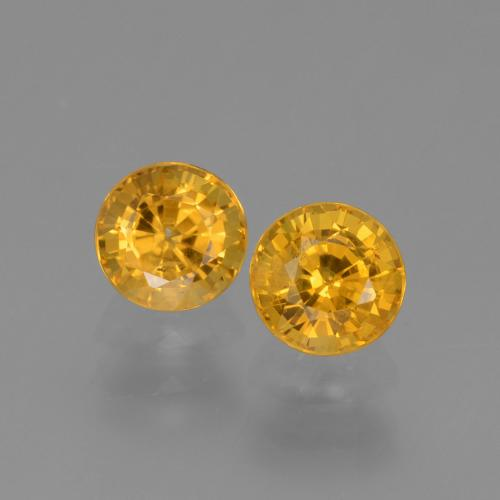 Golden Yellow Sapphire Gem - 0.7ct Round Facet (ID: 444378)