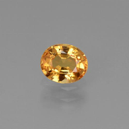Orange-Gold Zafiro Gema - 0.8ct Forma ovalada (ID: 444506)