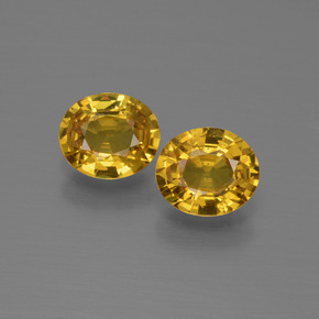 Golden Yellow Sapphire Gem - 0.7ct Oval Facet (ID: 444561)