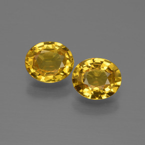 Golden Yellow Sapphire Gem - 0.8ct Oval Facet (ID: 444562)