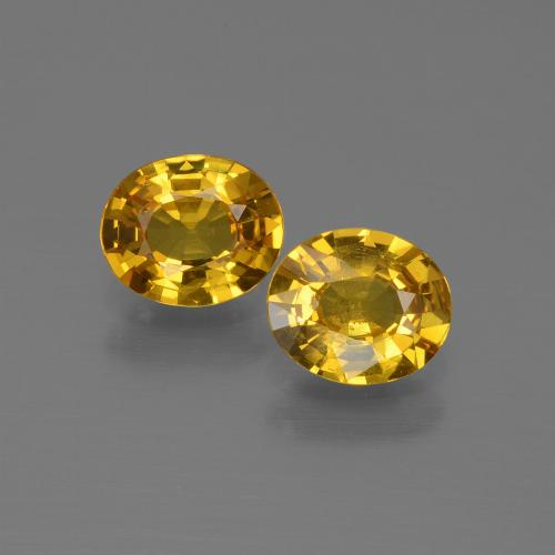 Golden Yellow Sapphire Gem - 0.7ct Oval Facet (ID: 444567)