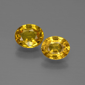 Golden Yellow Sapphire Gem - 0.8ct Oval Facet (ID: 444568)