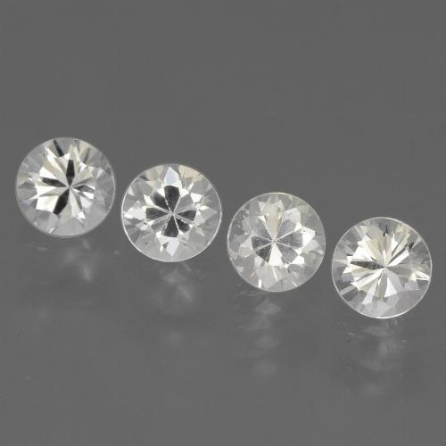 White Sapphire Gem - 0.4ct Diamond-Cut (ID: 444574)