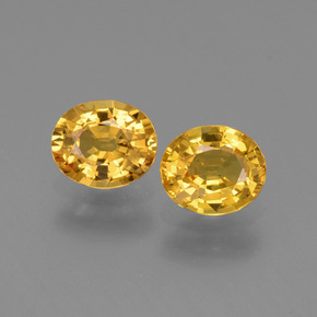 Golden Yellow Sapphire Gem - 0.8ct Oval Facet (ID: 444638)