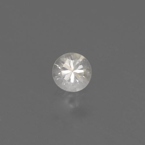 White Sapphire Gem - 0.4ct Diamond-Cut (ID: 444643)
